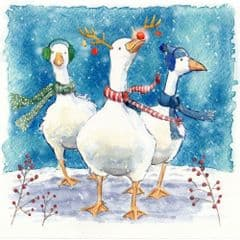 Festive Geese (pack of 10)