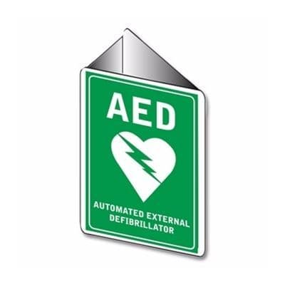 AED Angle Bracket Sign 225mm x 225mm