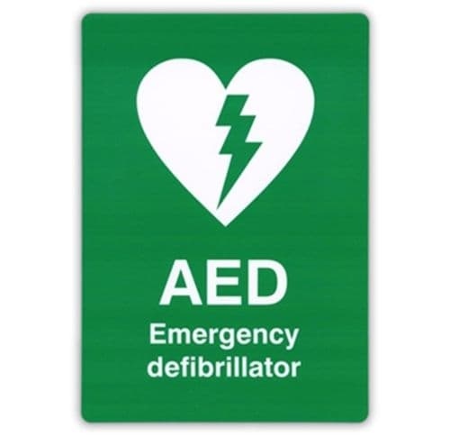 AED Self-Adhesive Wall Sign 297 x 210 mm