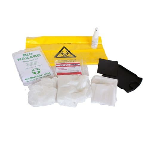 Biohazard Cleanup Kit 1 Application in Yellow Box