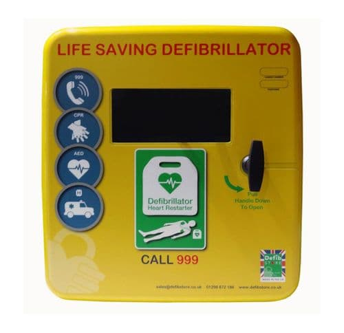 Defib Store 4000 unlocked polycarbonate AED Cabinet