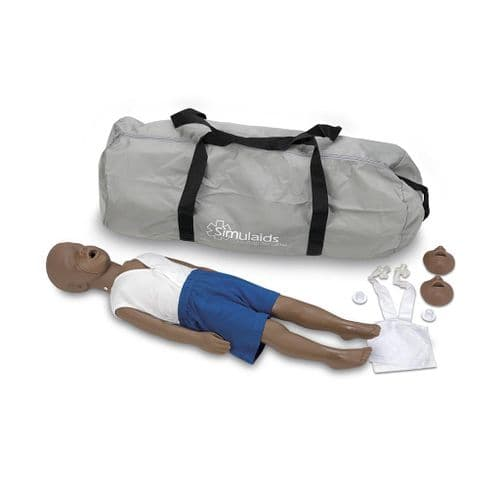 Kyle 3 Year Old African American Child Manikin with Bag