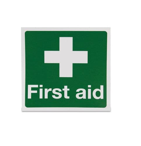 White Cross - First Aid Sign - Rigid