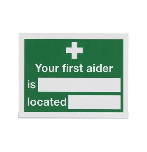Your First Aiders are Located Sign - Vinyl