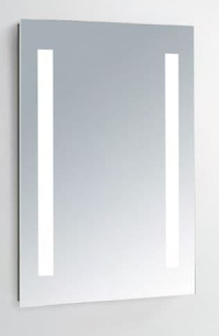 IP44 rated Slim LED Illuminated Bathroom Mirror - 750mm high by 500mm wide