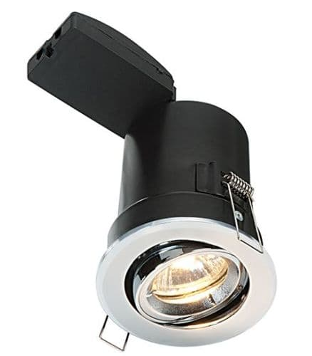 Adjustable Fire Rated LED Downlight with a Chrome Plate Finish