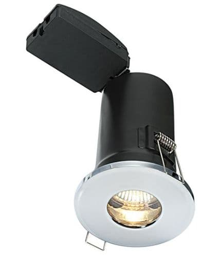 IP65 Fixed Fire Rated LED Downlight with a Chrome Plate Finish