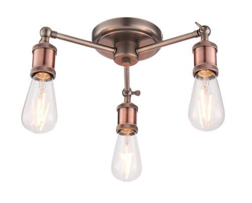 Retro and Industrial Styled Ceiling Light