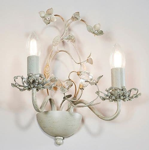 Wall Light with Intricate Flower Detailing
