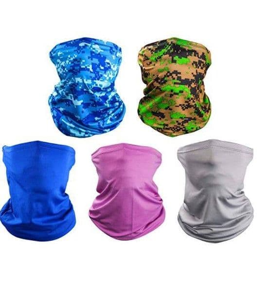 Multifunction Wear Snood - Magic Tube Scarf 5 pack