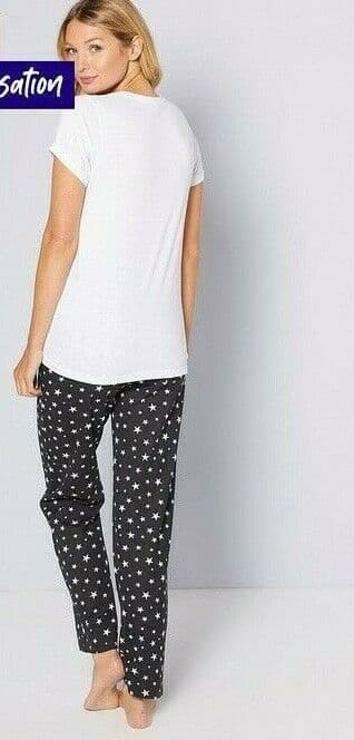 PJ in a Bag - Black Star with HP Chest  Print - Size 12