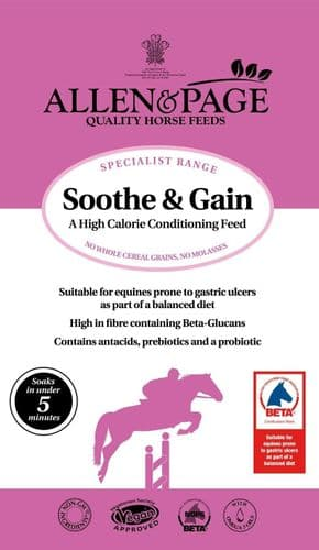 Allen & Page - Soothe & Gain - 15kg