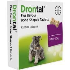 Drontal Plus - Tasty Bone  - Dog - Worming Tablet - Pack of 2 tablets