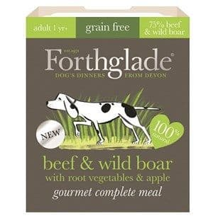 Forthglade - Gourmet  - Grain Free - Beef & Wild Boar with Root Vegetables & Apple - Adult -Dog Food
