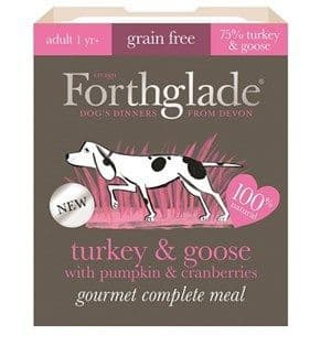 Forthglade -  Gourmet -  Grain Free -  Turkey & Goose with Pumpkin & Cranberry -  Adult -  Dog Food