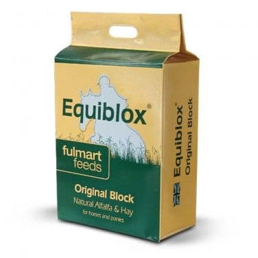 Fulmart Feeds - Equiblox - Original Block - Alfalfa - Hay Fibre Blocks-  12kg