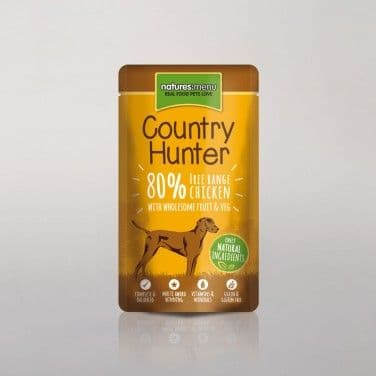 Natures Menu - Country Hunter - Adult Dog - Chicken Pouches -  6 x 150gm