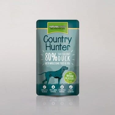 Natures Menu - Country Hunter - Adult Dog - Duck Pouches - 6 x 150gm