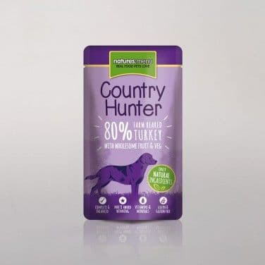 Natures Menu - Country Hunter - Adult Dog - Turkey Pouches - 6 x 150gm