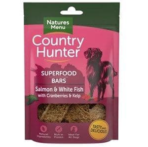 Natures Menu - Country Hunter  - Superfood Bar Salmon & White Fish  - Dog Treats 100g