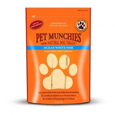 Pet Munchies  - Dog Treats  - Ocean White Fish - 100gm
