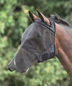 Shires - Pony - Fine Mesh - Full face - fly mask with nose