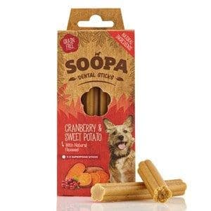 Soopa - Dental Sticks - Cranberry & Sweet Potato -  x 4 Sticks