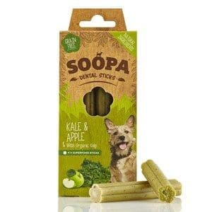 Soopa  - Dental Sticks  - Kale & Apple -  x 4 Sticks