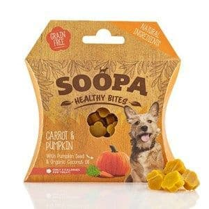 Soopa  - Healthy Bites  - Carrot & Pumpkin - Dog Treats -  50g