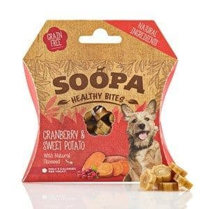 Soopa - Healthy Bites - Cranberry & Sweet Potato - Dog Treats - 50g