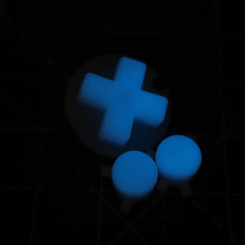 Game Boy Color Custom Blue GITD Buttons