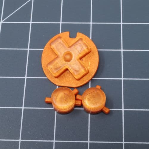 Game Boy Color - Custom Buttons - Orange Candy
