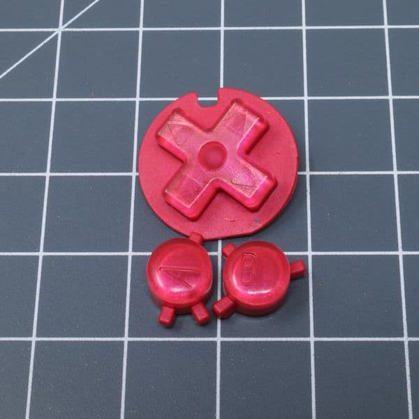 Game Boy Color - Custom Buttons - Strawberry Candy