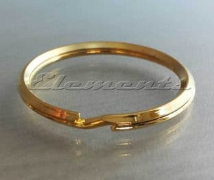 38mm Gold Plated Steel Split Rings BM101