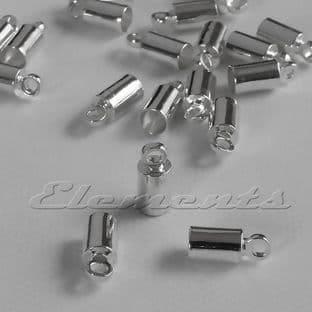3mm Silver Or Gold Plated Cord Barrel End Caps