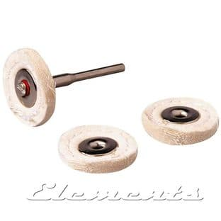 4 pc Set of Polishing Wheels with Mandrel T050