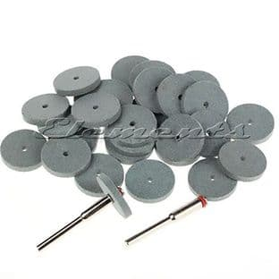 7pc Set of 22mm Silicone Rubber Polishing Discs T035