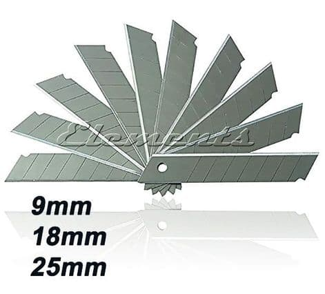 9mm 18mm 25mm Snap Off Replacement Blades