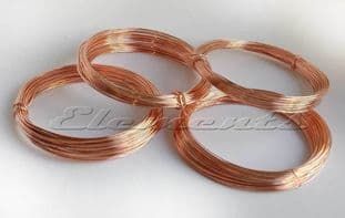 Copper Non Tarnish Jewellery Craft Round Wire Coil Not Plated 0.4mm - 1mm
