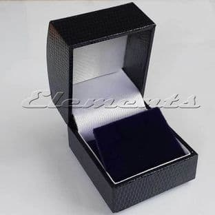 Domed Classic Leatherette Earring Pendant Jewellery Gift Box