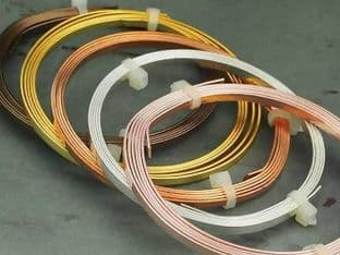 Flat Craft Wire Silver Gold Copper Plated