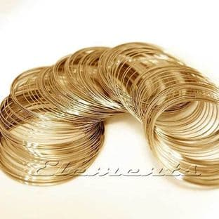 Gold Plated Round Wire 0.25 - 0.8mm