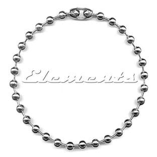 Nickel Plated Ball Tag Chain 4'' Long With Connector BM037