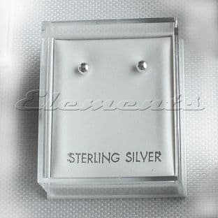Plastic Clear Lid Stud Earrings Display Boxes With White Pads Top Hole