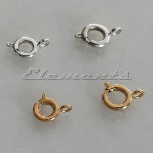 Silver / Gold Plated Bolt Rings 6mm 7mm