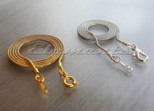 Silver or Gold Plated Fine Round Snake Chains
