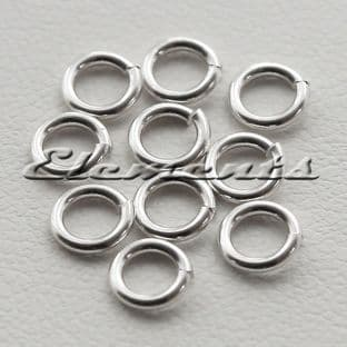 Sterling Silver 4mm Jump Rings 0.7mm Wire