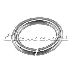 Sterling Silver Open Oval Jump Rings