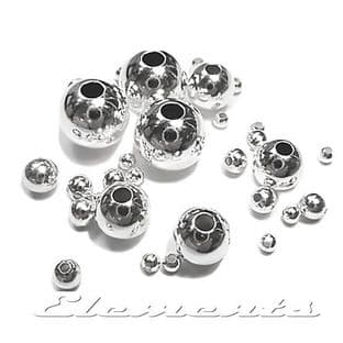 Sterling Silver Round Seamless Spacer Beads With Two Hole