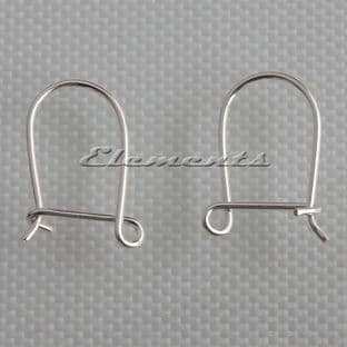 Sterling Silver Safety Ear Wires 15mm